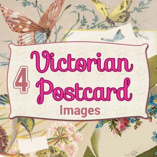 victorian-postcards, digital download, scrapbooking, card making, paper craft