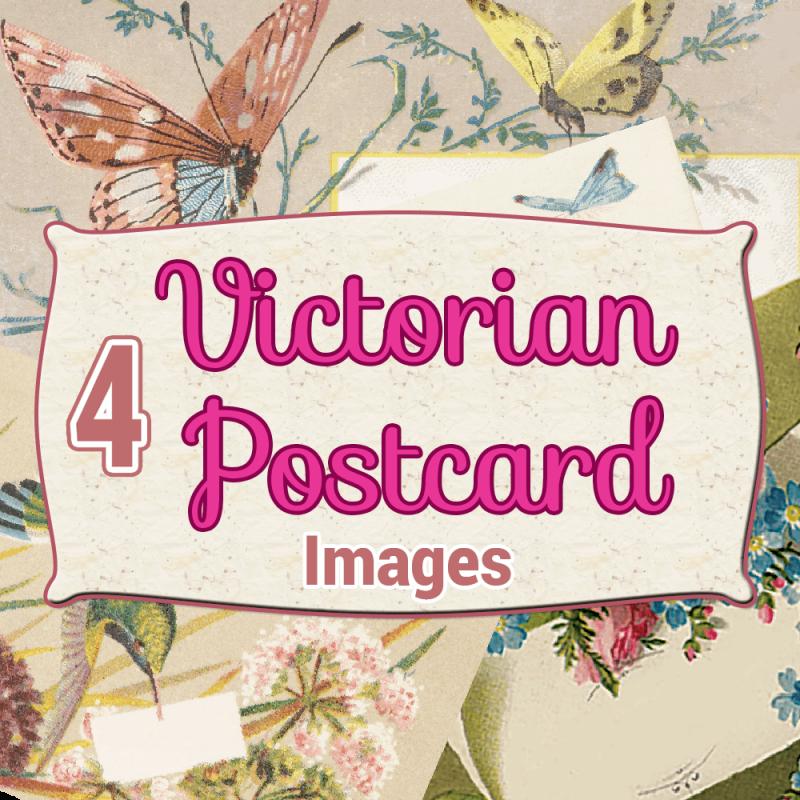 victorian-postcards, digital download, scrapbooking, card making, paper craft