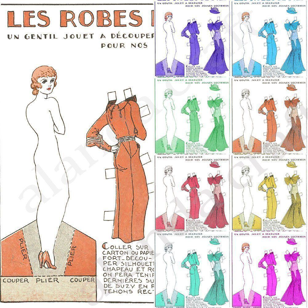 french-cutout-paper-doll,scrapbooking, paper craft, card making