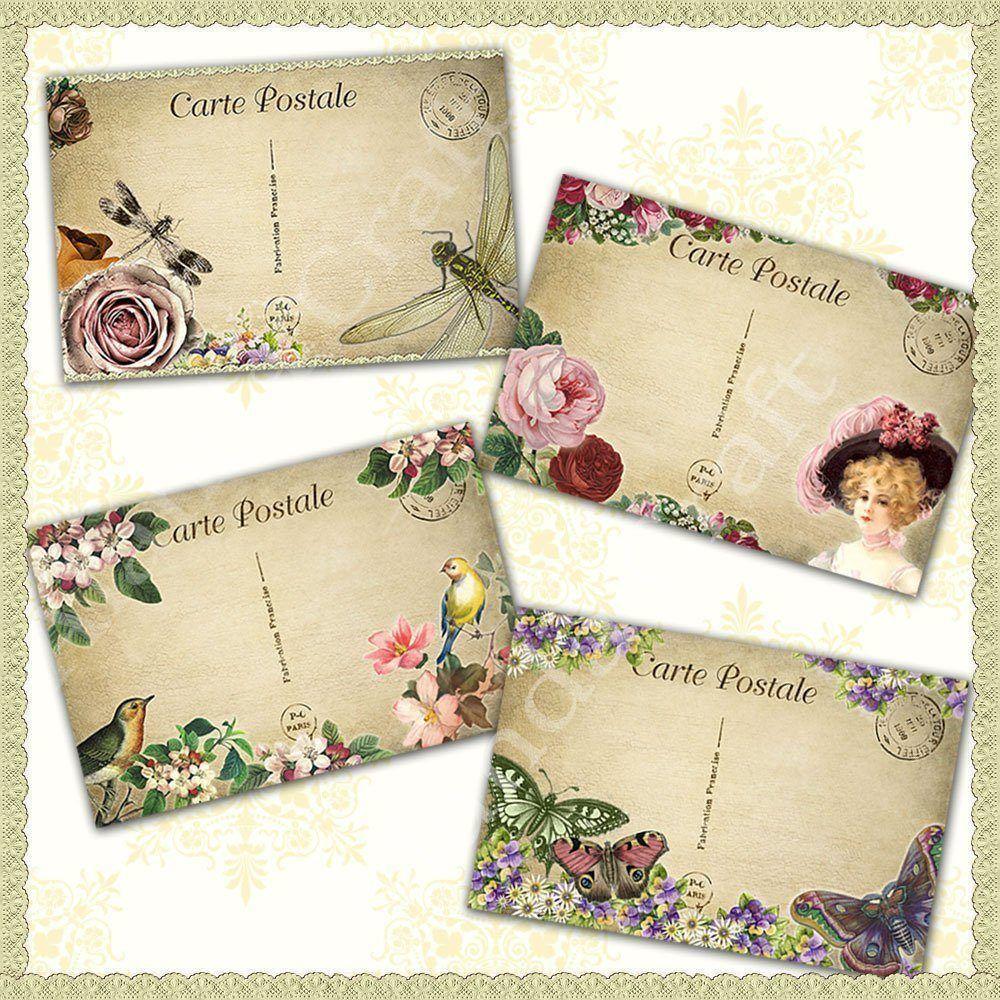 vintage-postcards,digital downloads, scrapbooking, card making, paper craft