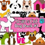 scan n cut cutting files dog pack