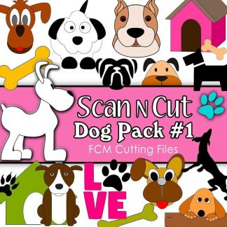 scan n cut cutting files dog pack