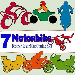 scan n cut cutting files - motorbike
