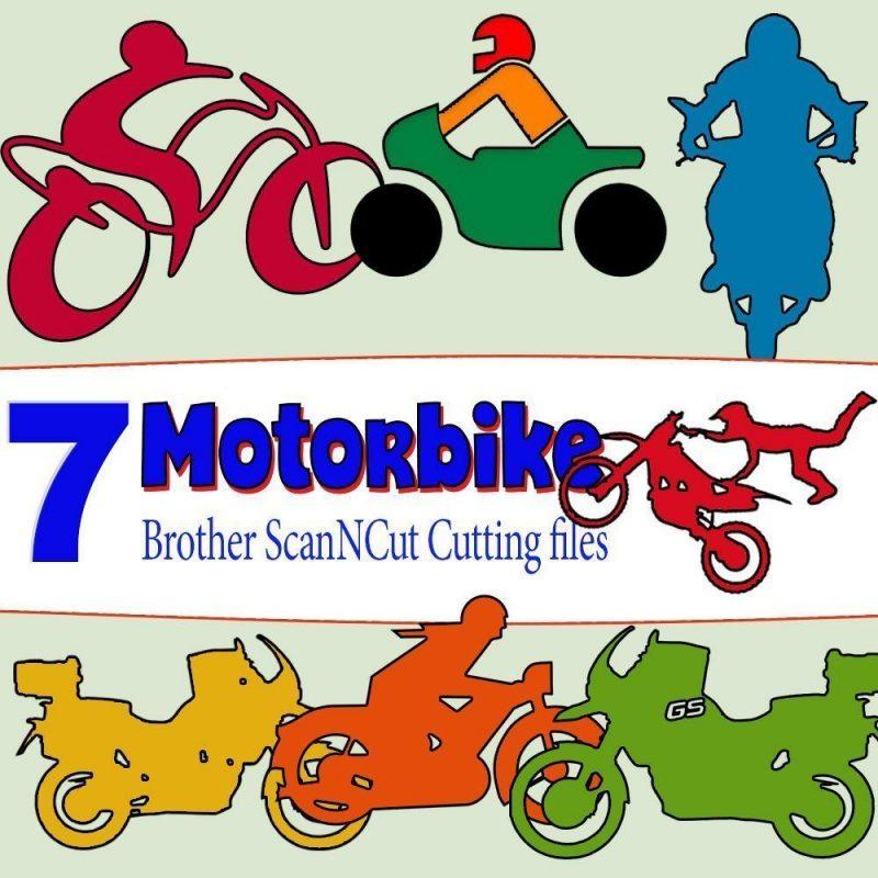 scan n cut cutting files - motorbike