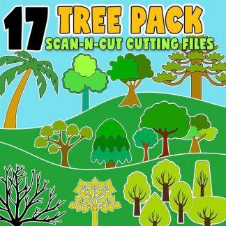 scan n cut trees cutting files