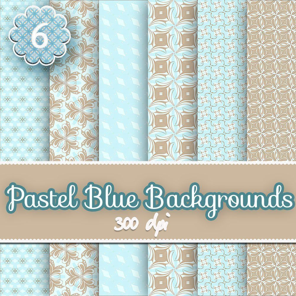 pastel blue digital background scrapbooking papers,