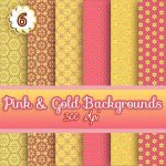 pink n gold digital download backgrounds, scrapbooking, paper craft, card making