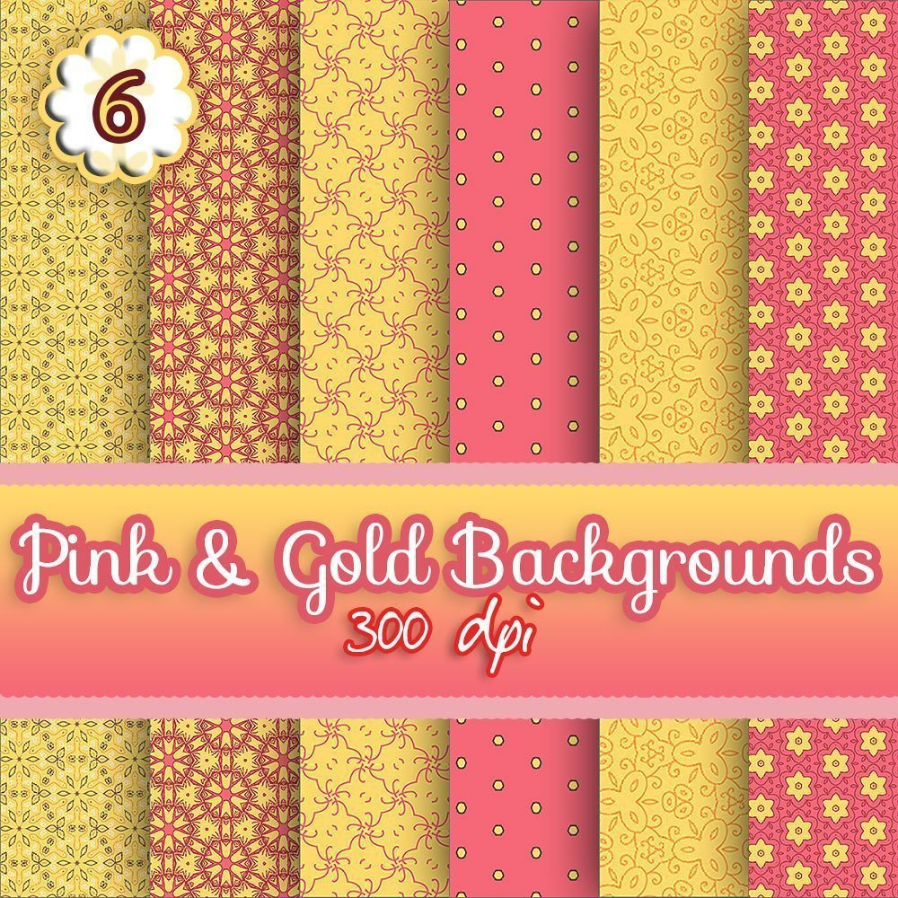 pink n gold digital download backgrounds, scrapbooking, paper craft, card making