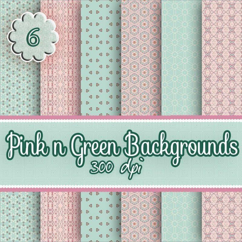 pink n green digital download backgrounds,scrapbooking, paper craft, card making