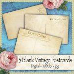 vintage-postcards, scrapbooking, card making, paper craft