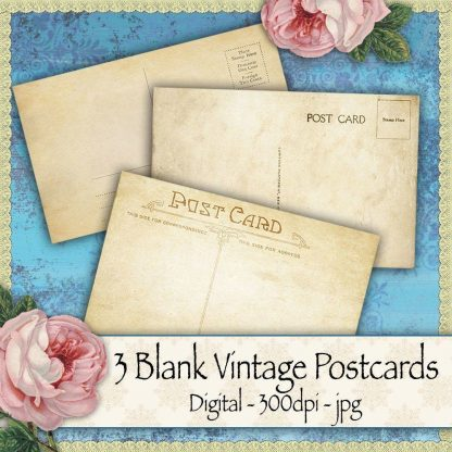 vintage-postcards, scrapbooking, card making, paper craft