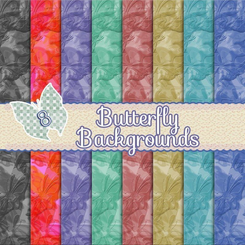 butterfly digital background, scrapbooking, card making, paper craft