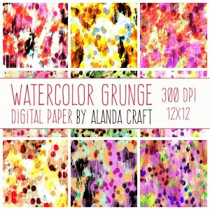 Watercolor-Grunge-Digital-Backgrounds,scrapbooking backgrounds, card making, paper craft