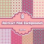 abstract-pinks-digital-backgrounds,digital downloads, scrapbooking, card making, paper craft