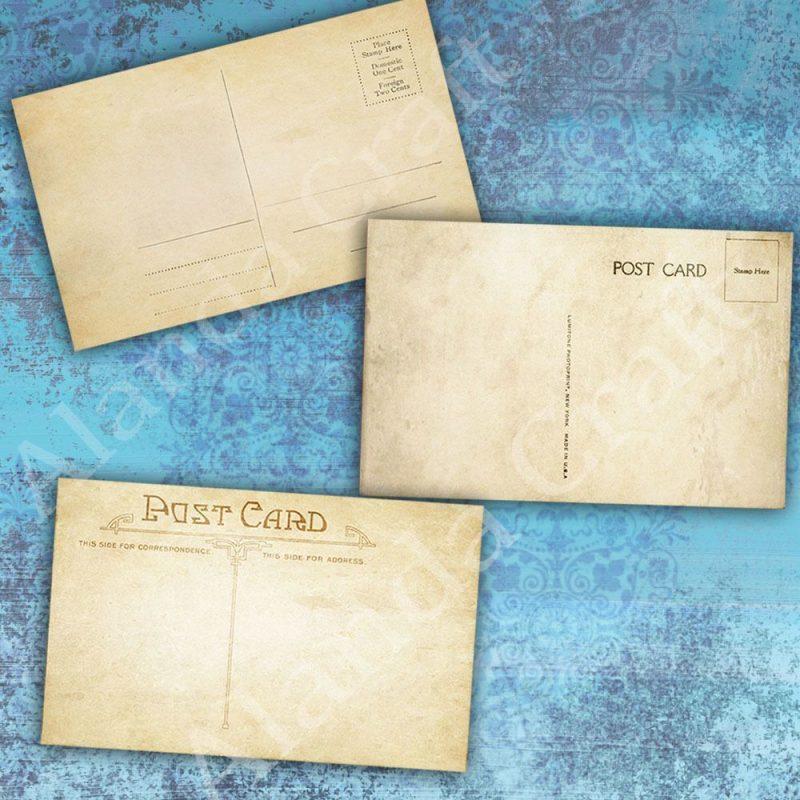 blank-vintage-postcards,scrapbooking,paper craft, card craft