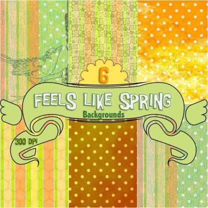 feels-like-spring-digital-backgrounds, digital download, scrapbooking, paper craft, care making