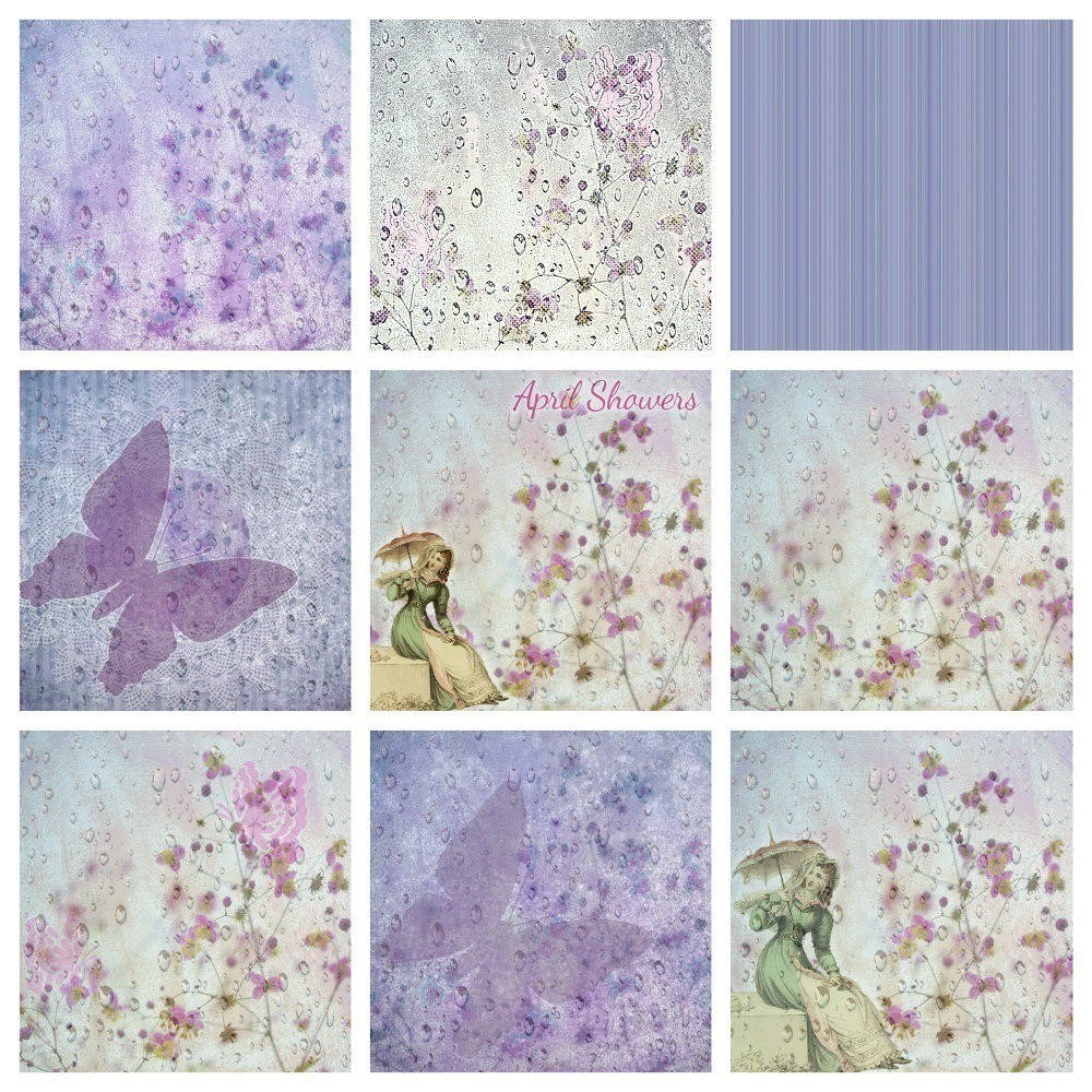 9 Vintage Floral Backgrounds – Use for Digital Scrapbooking and Paper  Projects – Alanda Online