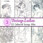 vintage-ladies-images, scrapbooking, card making, paper craft