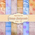vintage-lady-digital-background,scrapbooking, card making, paper craft