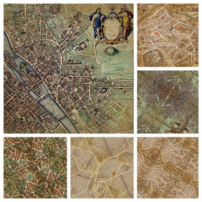 vintage paris backgrounds, digital backgrounds, scrapbooking, craft, paper craft, paris maps