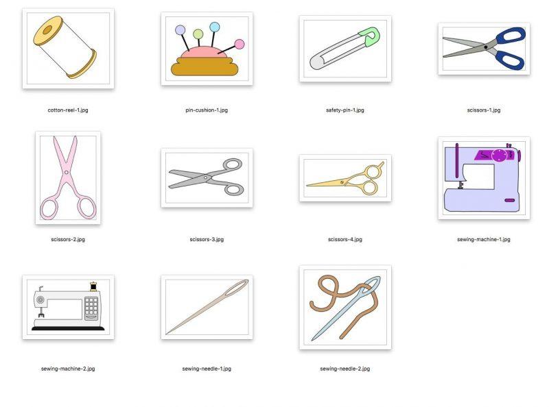 scan n cut cutting files - sewing pack