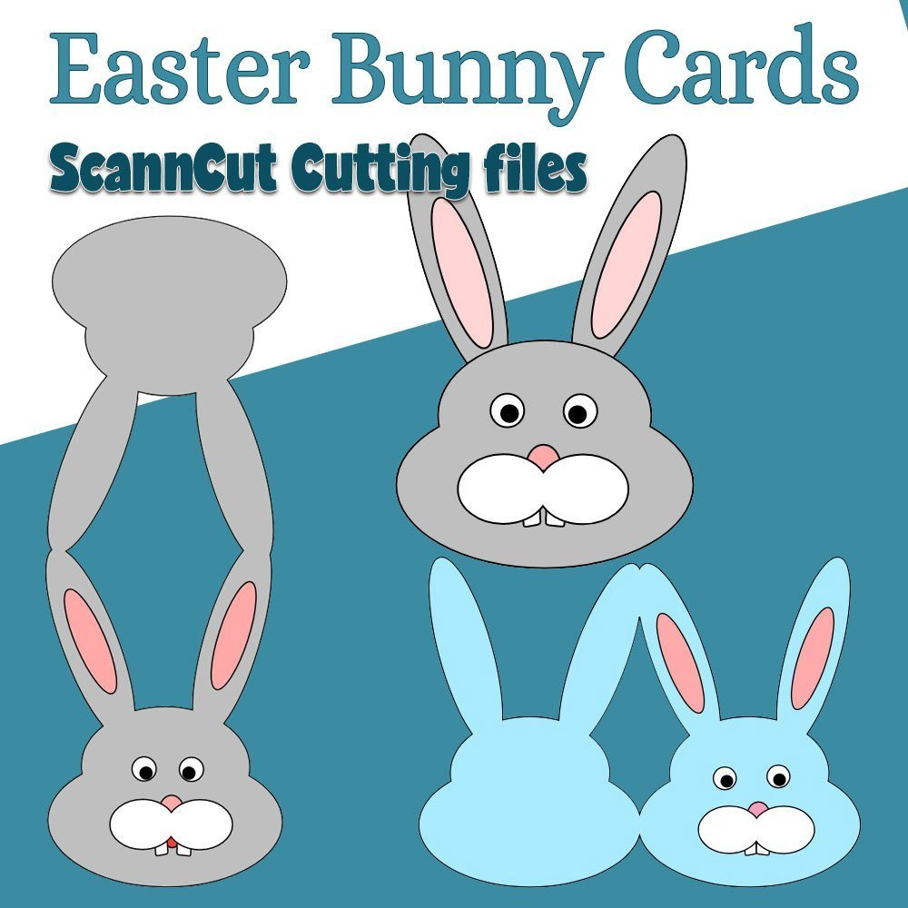 easter bunny cards brother scan n cut cutting files alanda online