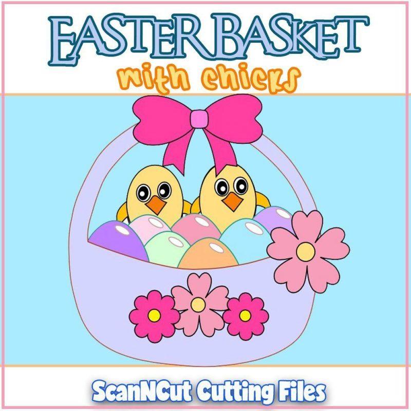 Easter Basket ScanNCut Cutting Files