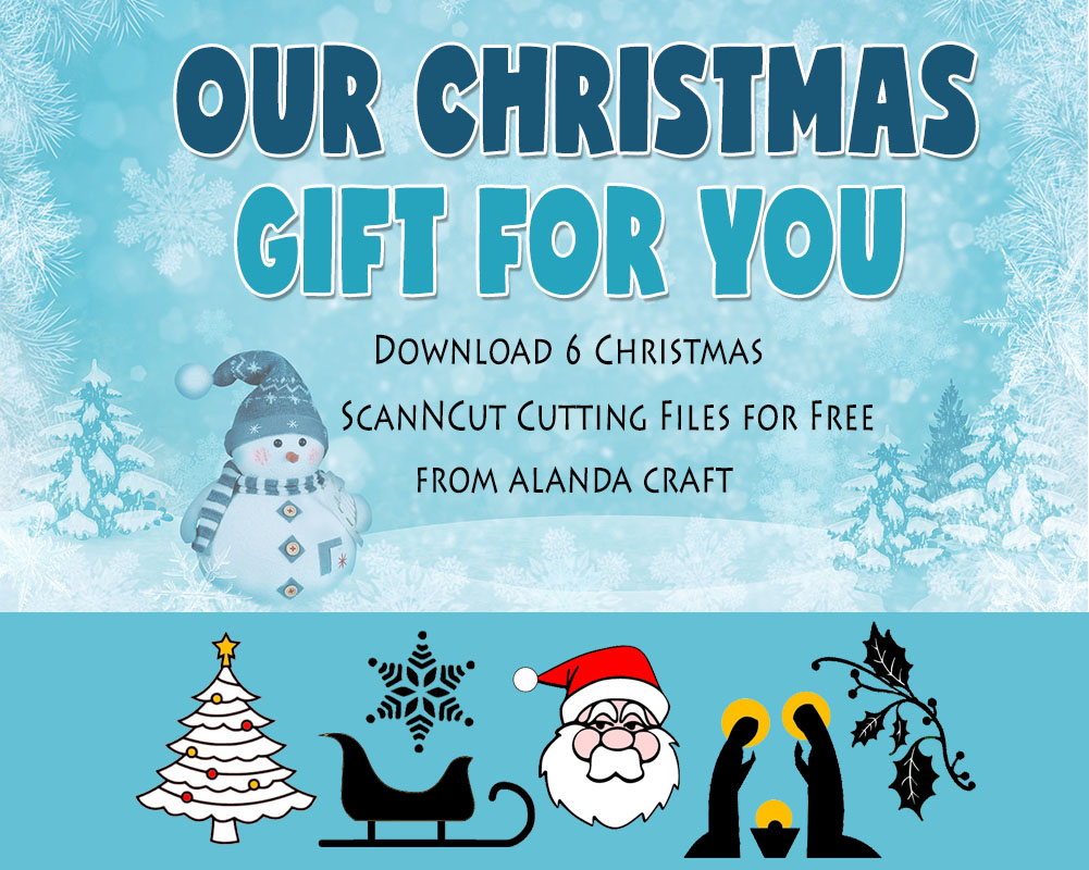 free christmas scanncut cutting files