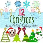 christmas scanncut cutting files. craft, scrapbooking, card making, alandaonline.com